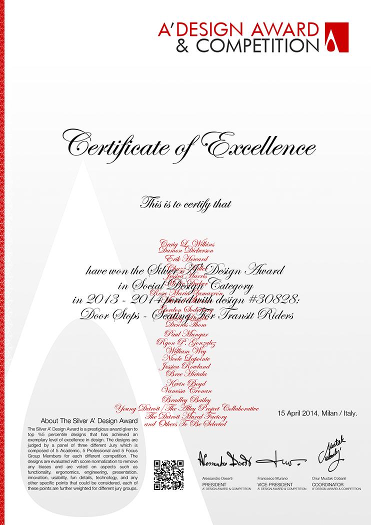 Silver Award for Social Design